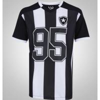 Camiseta Do Botafogo Braziline Vecto - Masculina - Preto/Branco