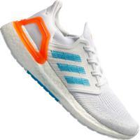 Tênis Adidas Ultraboost 20 Primeblue - Masculino - Branco/Azul Cla