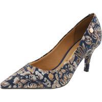 Sapato Feminino Salto Baixo Multi/Marinho Vizzano - 1185102