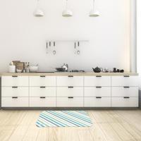 Tapete De Cozinha Mdecore Listrado Branco 40X60Cm