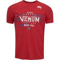 Camiseta Venum Muay Thai Bangkok - Masculina - Vermelho