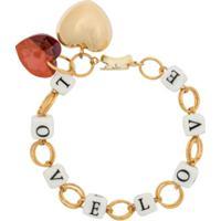 Timeless Pearly Pulseira Love - Dourado