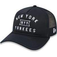Netshoes  Boné 940 A-Frame New York Yankees Mlb Aba Curva New Era -  Masculino 72bf279b39c2c