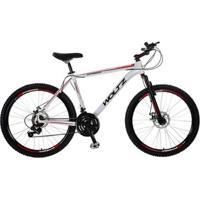 Bike Woltz Aro 26 Disco 24V Quadro Alumínio Câmbios Shimano - Unissex