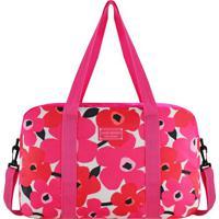 Bolsa De Viagem- Pink & Vermelha- 29,5X38X12,5Cmjacki Design