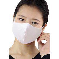 Kit Com 08 Máscaras Ninja Anti Poeira Lavável Reutilizável Branco