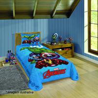 Colcha Avengersâ® Solteiro- Azul & Vermelho- 150X210Clepper