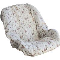 Capa Bebê Conforto Laura Baby Nervura Floral Ferrugem