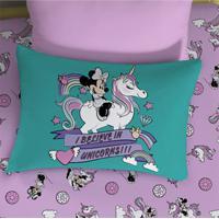 Fronha Avulsa Portallar Malha Estampa Localizada Disney Minnie E Unicórnio Verde