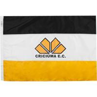 Bandeira Licenciados Futebol Criciúma 2 Panos (128X90) Branca/Amarela