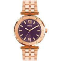 Relógio Euro Boyfriend Feminino - Feminino-Rose Gold