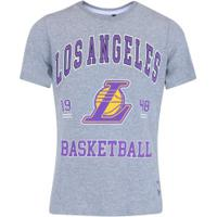 Camiseta Nba Los Angeles Lakers College - Infantil - Cinza