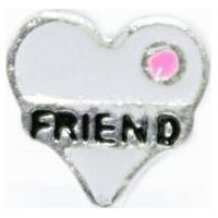 Pingente Coracao Friend Memories Prata 925 Esmaltado Capsula - Feminino