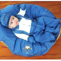 Saída De Maternidade Sônia Enxovais Menino Luxo Suspensório Vitor Azul