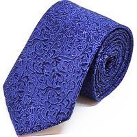 Gravata Concetto Seda Semi Slim Azul Marinho