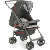 Carrinho De Bebê Milano Reversível Ii Preto Regulável- Galzerano
