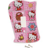 Placa De Interruptor Hello Kitty Sem Interruptor Startec Branco/Rosa