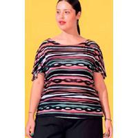 Blusa Estampada Almaria Plus Size Miss Taylor Vaza