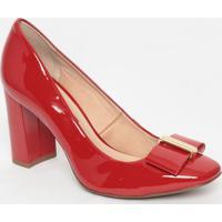 Sapato Em Couro Envernizado- Vermelho- Salto: 8,5Cmjorge Bischoff