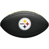 Bola De Futebol Americano Wilson Nfl Steelers Wtf1540Bkpt, Cor: Preto/Branco, Tamanho: Único