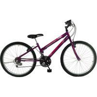 Bicicleta South Bike Love - Aro 24 - Freio V-Brake - 18 Marchas - Feminina - Infantil - Roxo