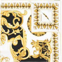 Versace Lenço Barocco De Seda - Estampado
