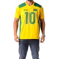 Camiseta Braziline Manga Curta Brasil Ingá Masculina - Masculino