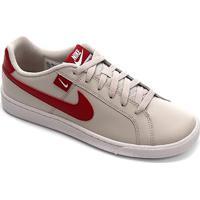 Tênis Nike Court Royale Masculino - Masculino-Bege+Vermelho