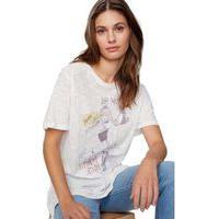 T-Shirt Fenda Flamê Silk Girl Rock Off White - Pp
