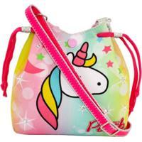 Bolsa Infantil Princesa Pink Unicornio Gradiente Multicolorido