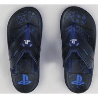 Chinelo Infantil Grendene Playstation Preto