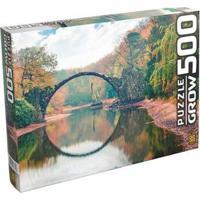 Quebra-Cabeça 500 Peças Ponte Espelhada - Unissex-Colorido