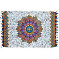 Canga Shopping Bali Mandala Rainbow 11 - Feminino-Azul