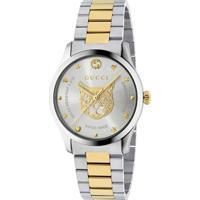 Relógio Gucci Feminino Aço Prateado E Dourado - Ya1264074