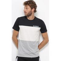 Camiseta Element Tribloc Masculina - Masculino-Preto+Cinza
