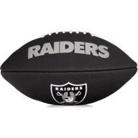 Bola De Futebol Americano Wilson Nfl Team Jr Oakland Raiders Edition Black - Unissex