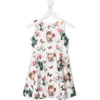 Charabia Vestido Com Estampa Floral - Branco