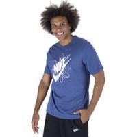 Camiseta Nike Ss Rs3 - Masculina - Azul Escuro