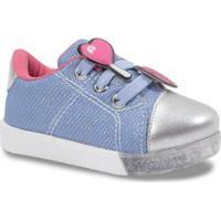 Tênis Infantil Pampili Com Patches Feminino - Feminino-Azul