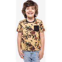 Camiseta Niños Floral Amarela 500031