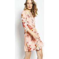 Vestido Transpassado Floral- Rosa Claro & Vermelholez A Lez