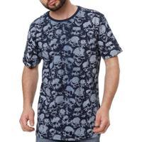 Camiseta Manga Curta Masculina Local Azul Marinho M