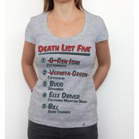 Death List Five - Camiseta Clássica Feminina