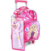 Mochilete Infantil Luxcel Princesa Barbie Feminina - Feminino-Azul