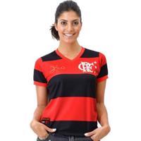 Camisa Flamengo Retrô Zico Libertadores Dry Feminina - Feminino
