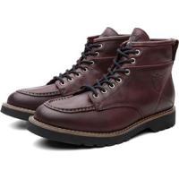 Bota Coturno Black Boots Moscou Cano Medio Masculina - Masculino-Vinho