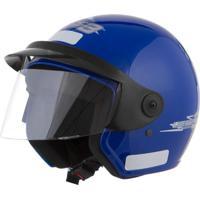 Capacete Moto Aberto Liberty Three 58 Azul - Pro Tork