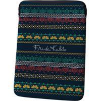 Capa Para Laptop Em Neoprene Azul Frida Kahlo Urban Home