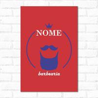 Placa Decorativa Personalizado Barba Red