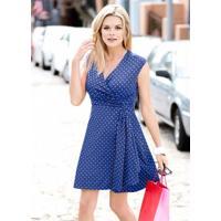 Vestido De Bolinhas Azul